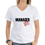 Off Duty Manager Women's V-Neck T-Shirt
