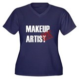 Off Duty Makeup Artist Women's Plus Size V-Neck Da