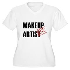 Off Duty Makeup Artist Women's Plus Size V-Neck T-