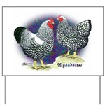 Silver Wyandotte Chickens Yard Sign