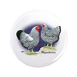 """Silver Wyandotte Chickens 3.5"""" Button (100 pa"""
