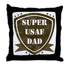 Super Air Force Dad Throw Pillow