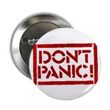 "Hitchhiker - Don't Panic! 2.25"" Button"