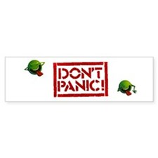 Hitchhiker - Don't Panic! Bumper Sticker