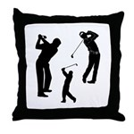 Golf Club Throw Pillow