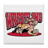 Wrestling Takedown Tile Coaster