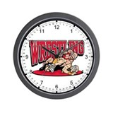 Wrestling Takedown Wall Clock