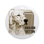 English Setter Vintage Ornament (Round)