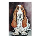 Basset Hound Portrait Postcards (Package of 8)