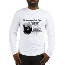 Cigar Smoker VI Long Sleeve T-Shirt