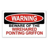 WIREHAIRED POINTING GRIFFON Rectangle Decal
