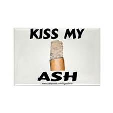 Kiss My Ash Cigar Rectangle Magnet (100 pack)