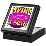 Living On Prayer Keepsake Box