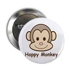 "Happy Monkey 2.25"" Button (10 pack)"