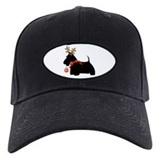 Scottie Dog Reindeer Baseball Hat