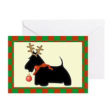 Scottish Terrier Christmas Greeting Cards (Pk of 2