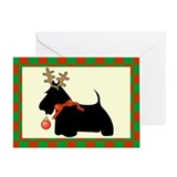 Scottish Terrier Christmas Greeting Card