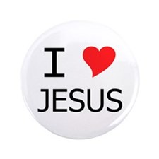 "I Heart Jesus 3.5"" Button"