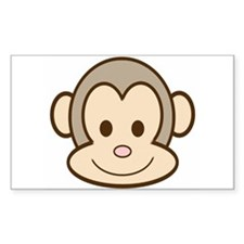 Monkey Face Rectangle Decal