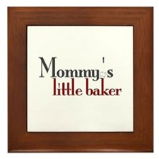 Mommy's Little Baker Framed Tile