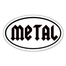 Metal Oval Decal