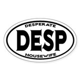 Desperate Housewife Oval Decal