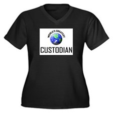 World's Greatest CUSTODIAN Women's Plus Size V-Nec