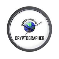 World's Greatest CRYPTOGRAPHER Wall Clock