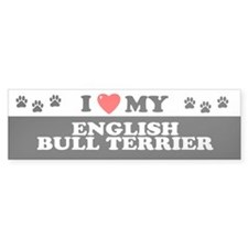ENGLISH BULL TERRIER Bumper Bumper Sticker