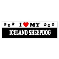 ICELAND SHEEPDOG Bumper Car Sticker