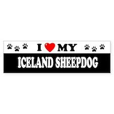 ICELAND SHEEPDOG Bumper Car Sticker