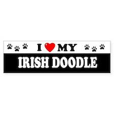 IRISH DOODLE Bumper Bumper Sticker