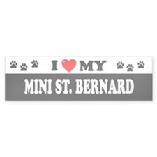 MINI ST. BERNARD Bumper Bumper Sticker