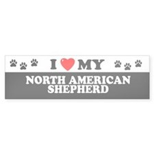 NORTH AMERICAN SHEPHERD Bumper Bumper Sticker