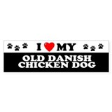 OLD DANISH CHICKEN DOG Bumper Bumper Sticker