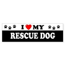 RESCUE DOG Bumper Bumper Sticker