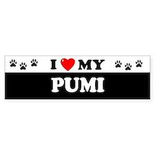 PUMI Bumper Bumper Sticker