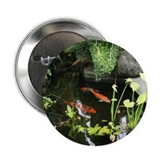 "Serene Koi Pond 2.25"" Button (10 pack)"