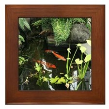 Serene Koi Pond Framed Tile