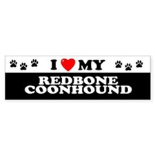 REDBONE COONHOUND Bumper Bumper Sticker