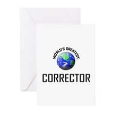 World's Greatest CORRECTOR Greeting Cards (Pk of 1