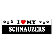 SCHNAUZERS Bumper Car Sticker