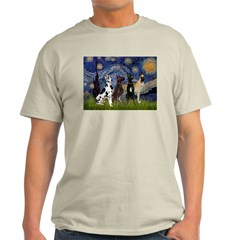 Starry / 4 Great Danes Light T-Shirt