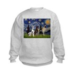 Starry / 4 Great Danes Kids Sweatshirt