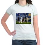 Starry / 4 Great Danes Jr. Ringer T-Shirt