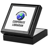 World's Greatest CORPORATE LIBRARIAN Keepsake Box