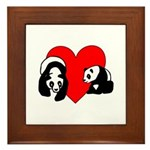 Panda Bear Love Framed Tile