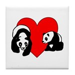 Panda Bear Love Tile Coaster