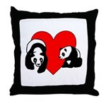Panda Bear Love Throw Pillow