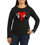 Panda Bear Love Women's Long Sleeve Dark T-Shirt